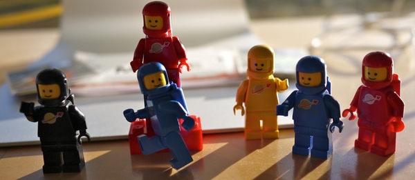 Lego Space Dudes from the 1970s